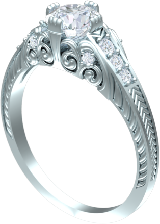 scroll engagement ring