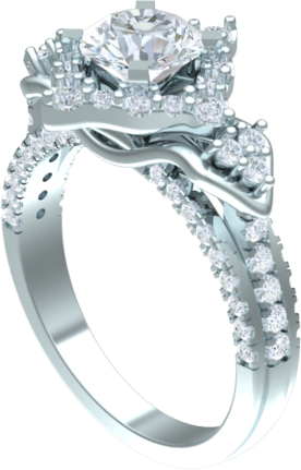 modern engagement ring