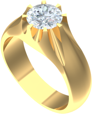 gents solitaire diamond ring