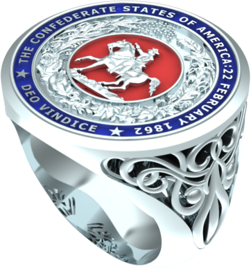 Confederate Seal Signet Ring