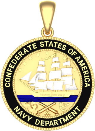 confederate states of america navy department pendant