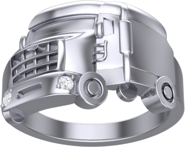 gents truck ring with diamonds